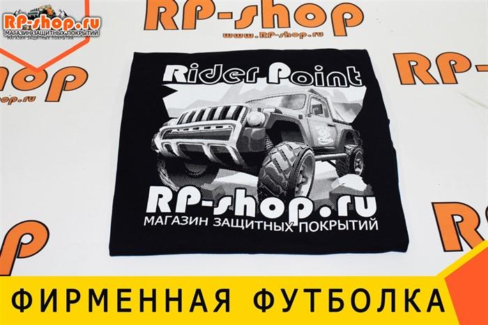 фирменная футболка черная - фото 5166