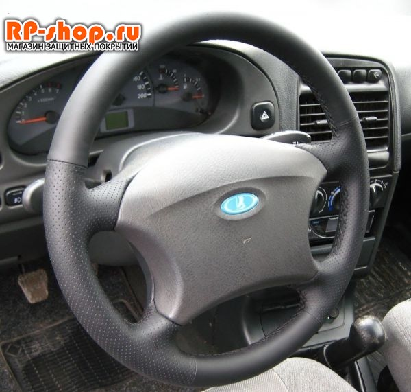 Оплетка на руль включая спицы для УАЗ-3163 Патриот 2005-2012 можно выбрать цвет нити - фото 5506
