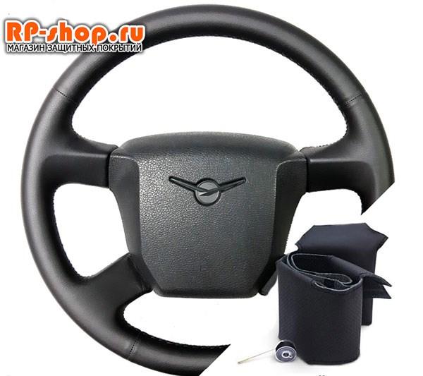Оплетка на руль включая спицы для УАЗ Патриот 2012-2017 г.в. можно выбрать цвет нити - фото 5512