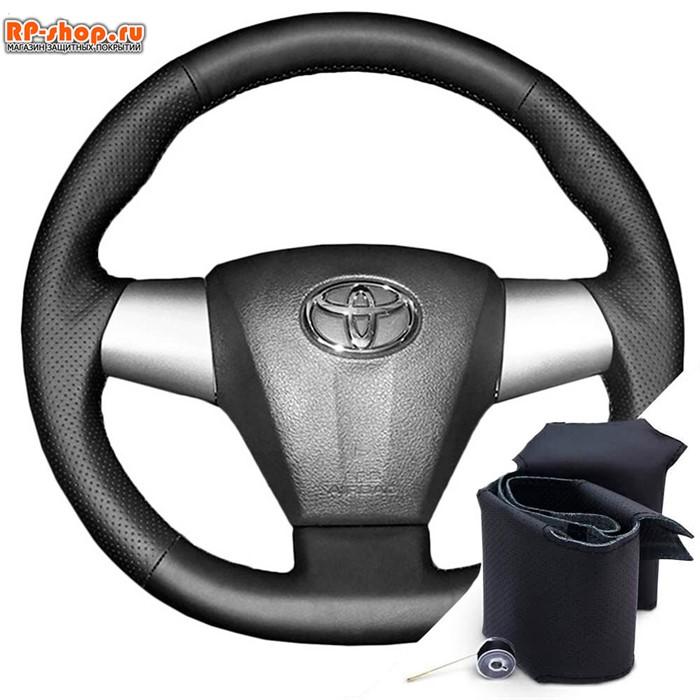 Оплетка на руль включая спицы для Toyota Rav 4 2010-2014 можно выбрать цвет нити - фото 5799