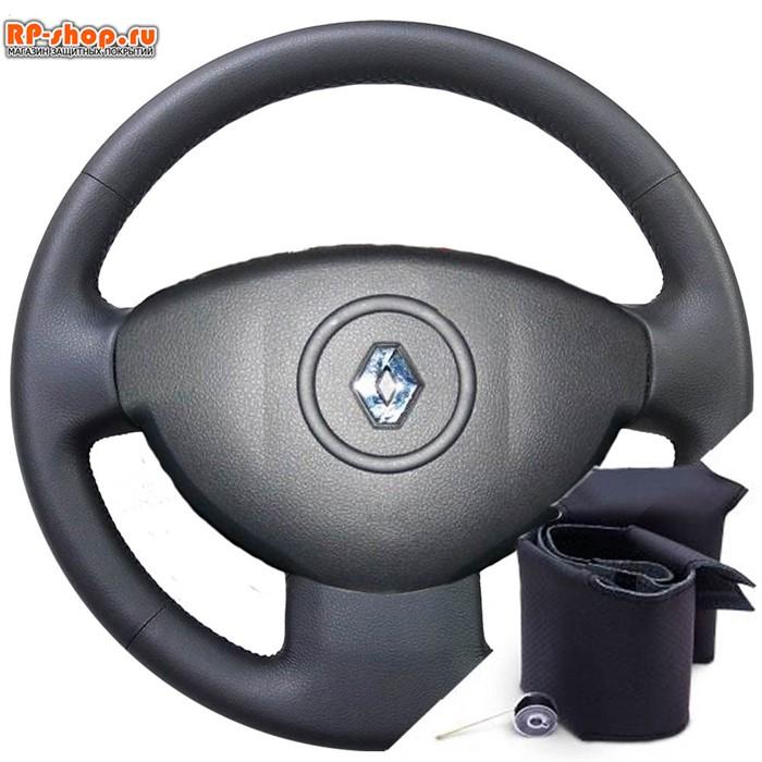 Оплетка на руль включая спицы для Renault Duster I AUTHENTIQUE (2011-2015) можно выбрать цвет нити - фото 5817