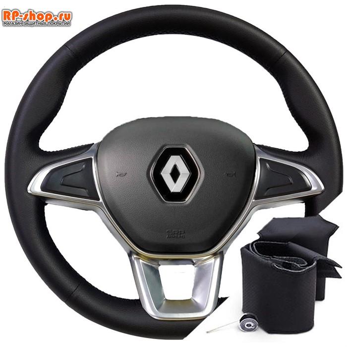 Оплетка на руль включая спицы для Renault Dokker (2018-2020) можно выбрать цвет нити - фото 5837
