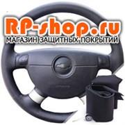 Оплетка на руль включая спицы Шевроле Авео I 2003-2011 г.в можно выбрать цвет нити - фото 6170