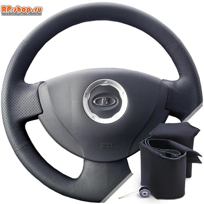 Оплетка на руль включая спицы для Ниссан Альмера c 2012 г.в. можно выбрать цвет нити - фото 6185