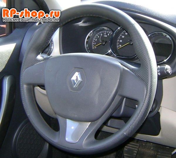 Оплетка на руль включая спицы для Ниссан Террано 3 можно выбрать цвет нити - фото 6186