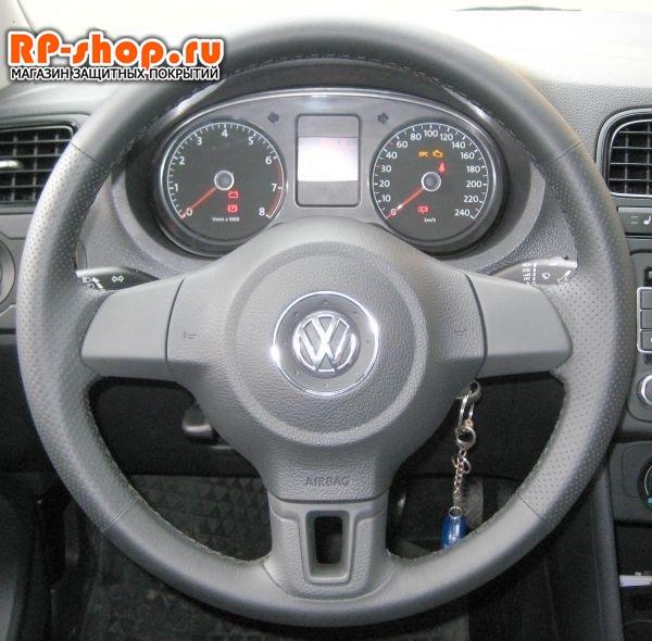 Оплетка на руль включая спицы для Фольксваген Тигуан можно выбрать цвет нити - фото 6189