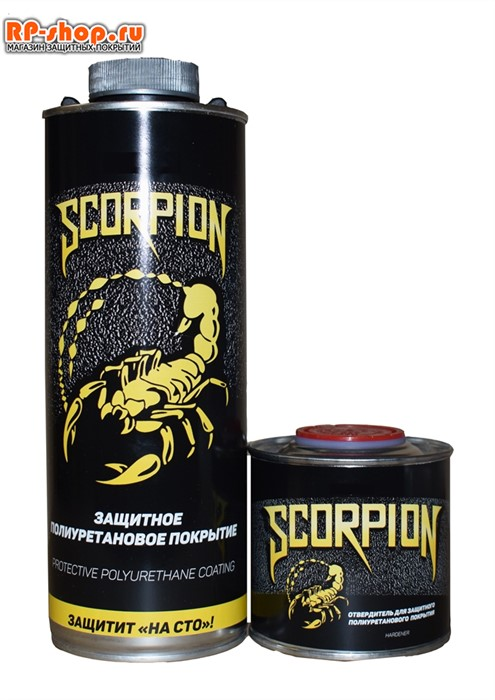 Краска Скорпион черный - фото 6273