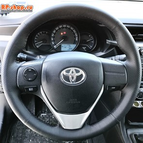 Оплетка на руль включая спицы для Toyota Corolla XI 2012-н.в. можно выбрать цвет нити