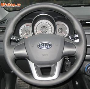 Оплетка на руль включая спицы Kia Rio III можно выбрать цвет нити