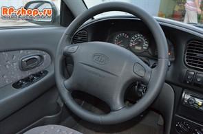 Оплетка на руль включая спицы Kia Spectra 2004-2011 можно выбрать цвет нити