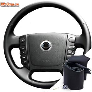 Оплетка на руль включая спицы для SsangYong Rodius I (2004-2013) можно выбрать цвет нити