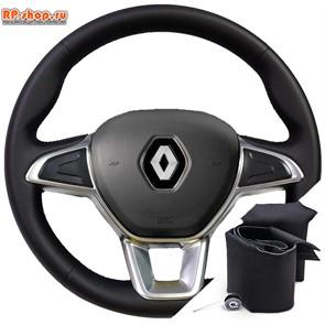 Оплетка на руль включая спицы для Renault Arkana I (2019-2020) можно выбрать цвет нити
