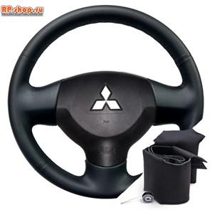 Оплетка на руль включая спицы для Mitsubishi Lancer 10 можно выбрать цвет нити