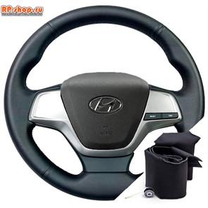Оплетка на руль Hyundai Solaris II (2017-2020) можно выбрать цвет нити