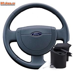 Ford Fusion 2002-2012 г.в. Оплетка для перетяжки руля включая спицы можно выбрать цвет нити