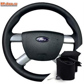 Ford Focus II (2005-2011) Оплетка для перетяжки руля включая спицы можно выбрать цвет нити
