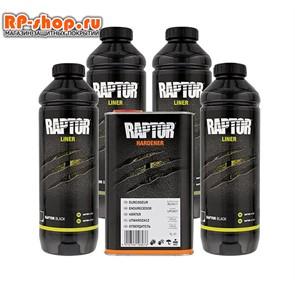 Покрытие RAPTOR U-POL комплект 4 литра цвет черный