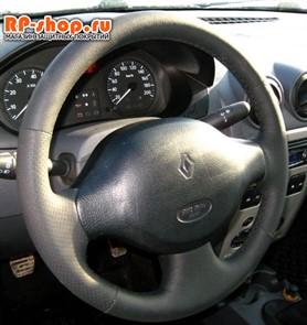 Оплетка на руль включая спицы для Renault Logan I можно выбрать цвет нити