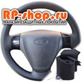 Оплетка на руль включая спицы для  Киа Рио 2 можно выбрать цвет нити - фото 5124