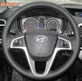 Оплетка на руль Хендай Солярис 1 можно выбрать цвет нити - фото 5420