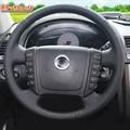 Оплетка на руль включая спицы SsangYong Kyron I 2005-2015 можно выбрать цвет нити - фото 5621