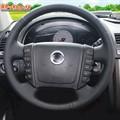 Оплетка на руль включая спицы для SsangYong Rexton I-III 2001-2017 можно выбрать цвет нити - фото 5627