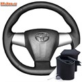 Оплетка на руль включая спицы для Toyota Corolla X 2010-2013 можно выбрать цвет нити - фото 5796
