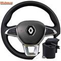 Оплетка на руль включая спицы для Renault Arkana I (2019-2020) можно выбрать цвет нити - фото 5834