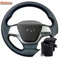 Оплетка на руль Hyundai Elantra VI (2015-2020) можно выбрать цвет нити - фото 5892